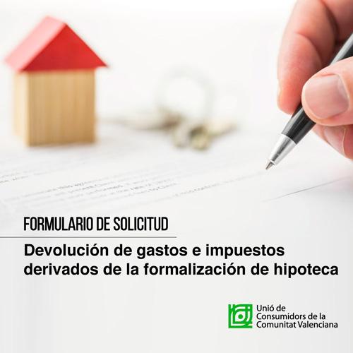 Devolución de gastos derivados de la formalización de la hipoteca