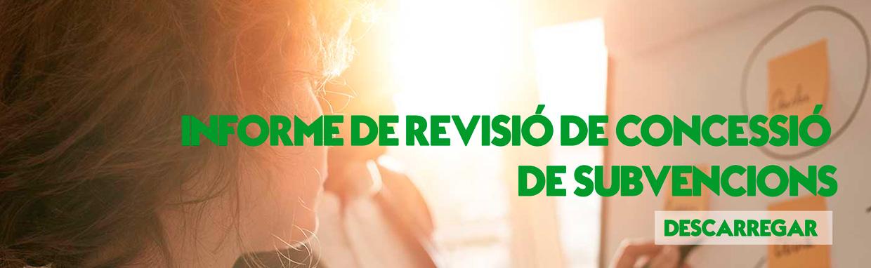 INFORME DE CONCESIÓN DE SUBVENCIONES
